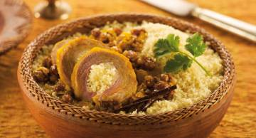 Lamb stuffed with couscous
