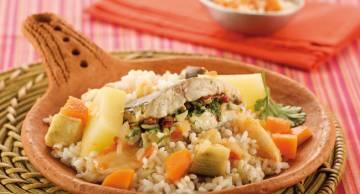 Ceebu jen (rice with fish)